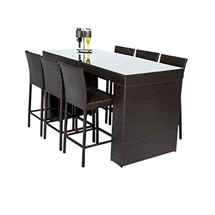 TK Classics NAPA-BARTABLE-WITHBACK-6 7 Piece Napa Bar Table Set with - Amazon.com : TK Classics NAPA-BARTABLE-WITHBACK-6 7 Piece Napa Bar