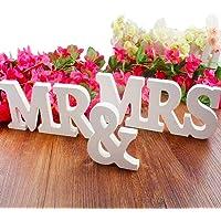 BESTZY MR & MRS Letter Garland Banner Madera