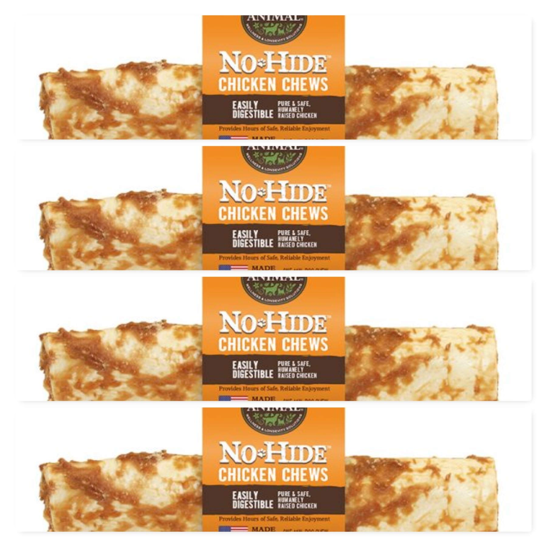 Earth Animal No Hide Rawhide Chicken Dog Chews, Dog Treats. 4 Inch. ea. 4 Pack. The Safe Alternative to Rawhide. by Earth Animal
