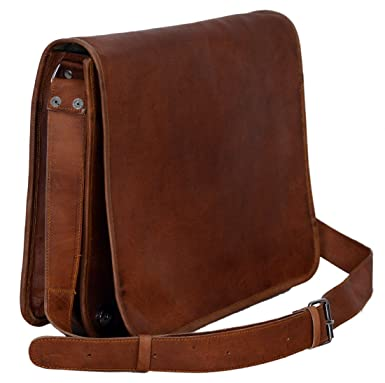 58f6073c0e80 Image Unavailable. Image not available for. Color  Komal s Passion Leather  Vintage Mens 16 Inch Leather Laptop Messenger Pro Satchel Men s Bag