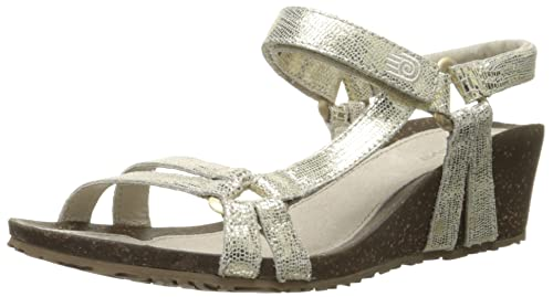 Teva Women's Ventura Wedge 2 Metallic LTR Sandal, Gold, ...