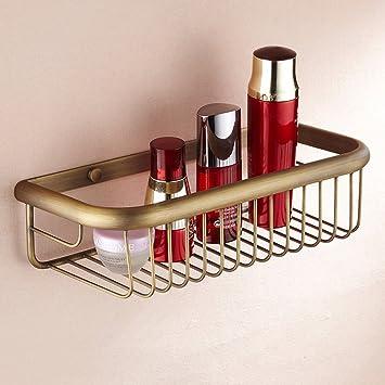 Amazon.com: Leyden Antique Brass Rectangle Shower Wire Basket Shower ...