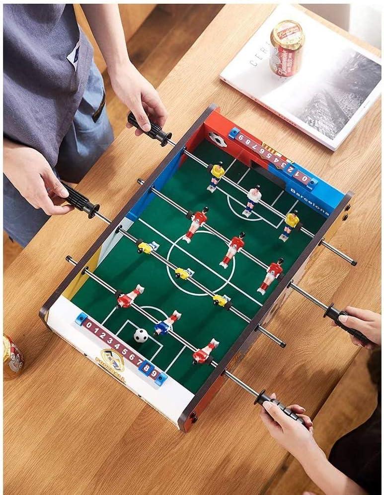 ADHW Participar 4 Filas Futbolín Juego de Mesa de Madera Jugador ...