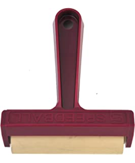 Speedball Pop-in Hard Rubber Brayer with Plastic Frame 793728 Renewed 4 Inches