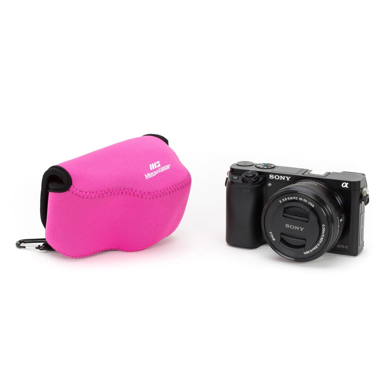 Funda Carcasa compacta, Sony, Alpha A5100, A5000 with 16-50mm Lens, NEX-5T, NEX-3N, NEX-5R, Azul MegaGear MG075 Estuche para c/ámara fotogr/áfica Carcasa compacta Azul