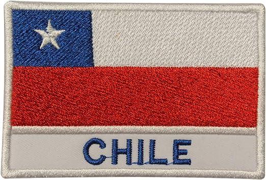 Parche bordado con la bandera nacional de Chile para coser o ...