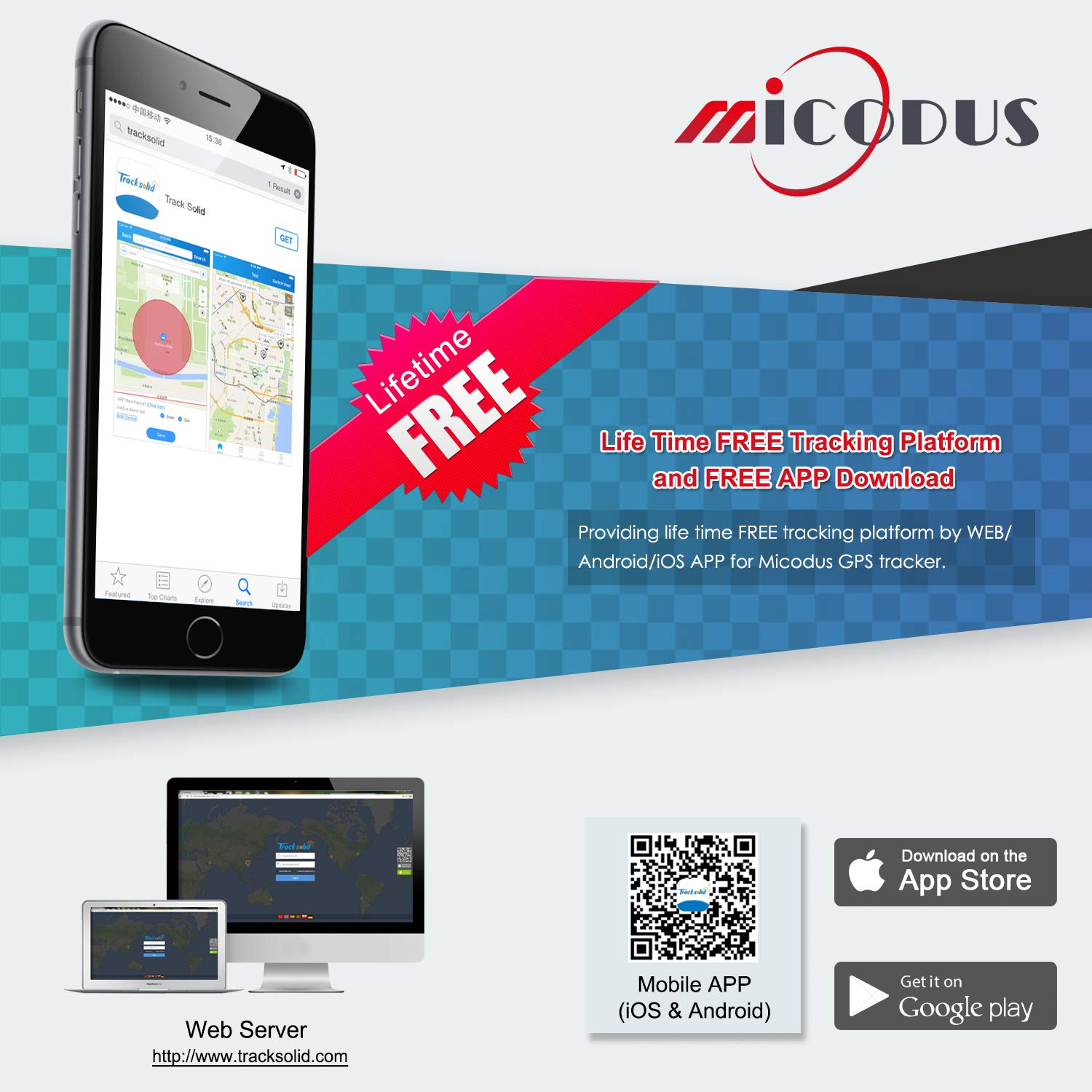 GPS Tracker, MICODUS Car Tracker Real Time GPS Tracker Car Locator ...