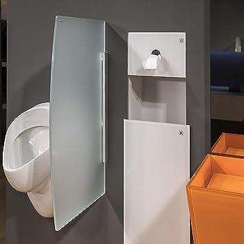 Glas Urinal Trennwand 450mm X 800mm Urinal Glaswand Glas Urinal