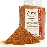 Zimt Ceylon, 100 Gramm gemahlen, hochwertiges Zimtpulver zum Würzen, ohne Zusatzstoffe, ohne Geschmacksverstärker - Bremer Gewürzhandel