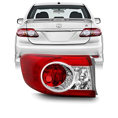 For 2011 2012 2013 Factory Style Toyota Corolla Driver Left Side Outer Tail Light Lamp: Automotive