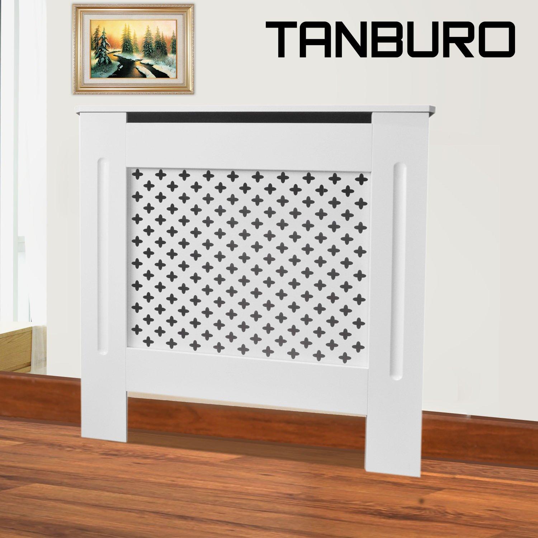 TANBURO Coperchio riscaldante, Coperchio radiatore, verniciata bianca opaca,78cm x 81.5cm x 19cm