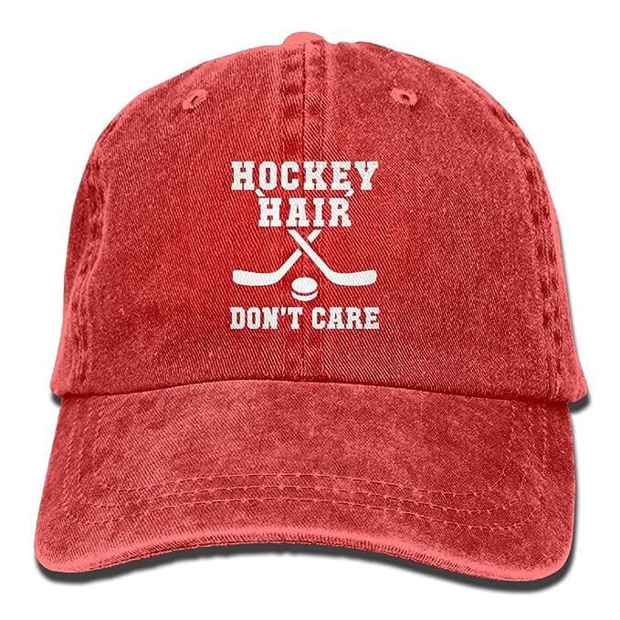 6cb01310794 Amazon.com: QIYYQI Hockey Hair Don't Care Easy Adjustable Satire ...