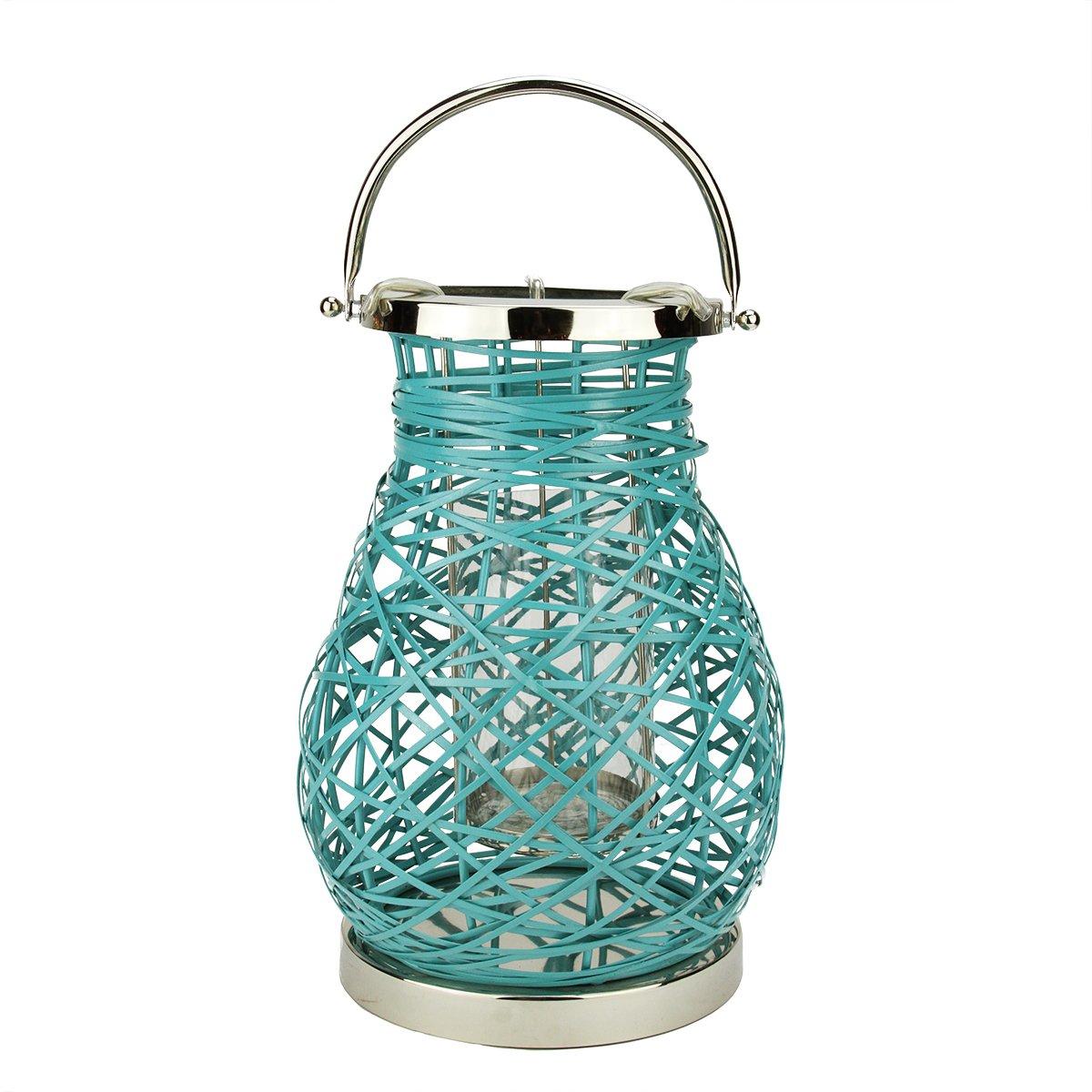 Amazon.com: Northlight Modern Turquoise Blue Decorative Woven Iron ...