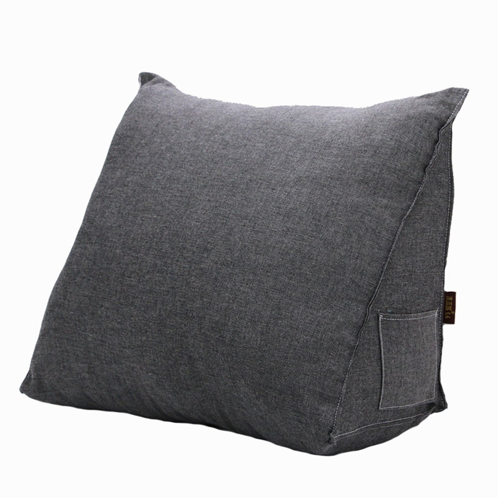 Waist Rest Triangle Office Seat Cushions Lumbar Support Waist Pillow Home Office School Car Waist pillow Sofa Support Backrest (Gray)