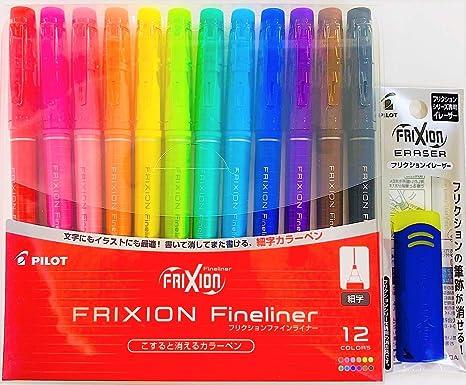 Amazon Com Pilot Frixion Fineliner Erasable Marker Pen