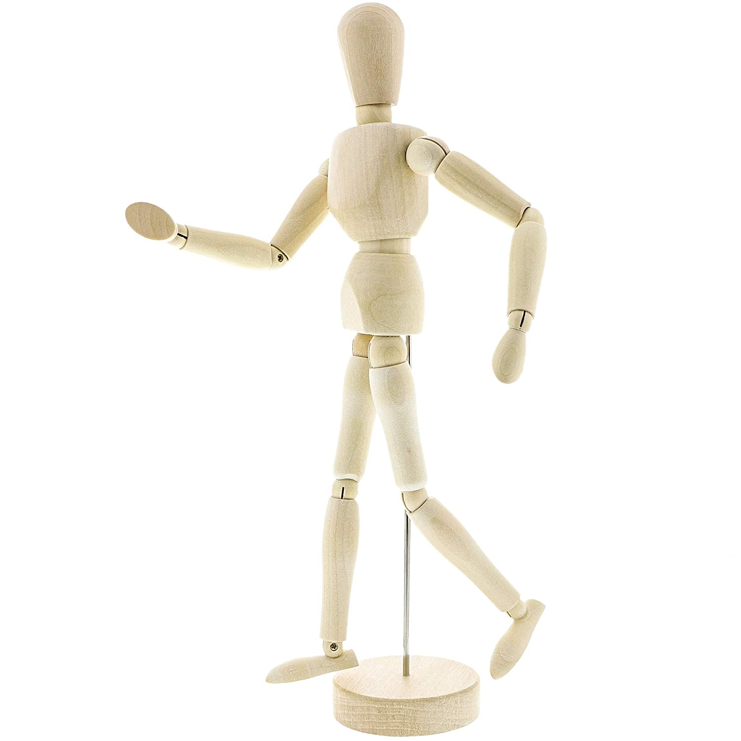 Amazon com le juvo 13 inch jointed posable wooden manikin figure model for artist drawing and sketching