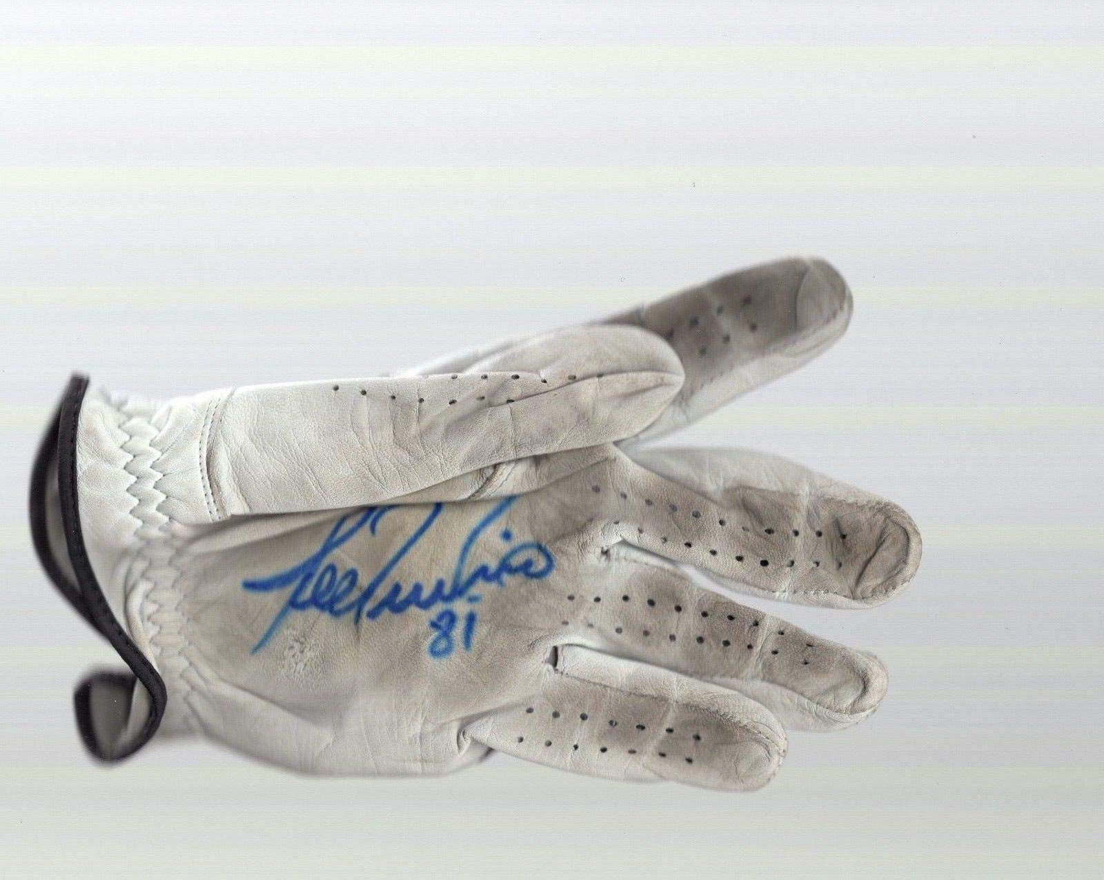 Lee Trevino Hand Signed And Used Golf Glove 6x Major Champion JSA Certified Autographed Golf Gloves