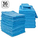 """36 Pack Microfiber Cleaning Cloth 14"""" x 14"""" Household Cleaning Dish Rags Towels for Kitchen Car Bathroom Glass Cookwares Cleaning Wipes"""