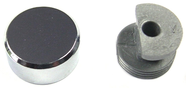 Patte à glace laiton chromé PVM - Diamètre 18 mm - Vendu par 4