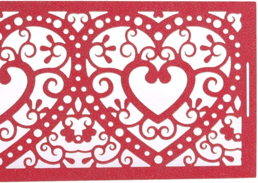 Rose Pinhan 50 Pcs Creux Fleur Bougie Abat-Jour Bougeoirs Supports D/écoup/és Au Laser Bougie Abat-Jour Titulaire Bougie Wraps pour Mariage