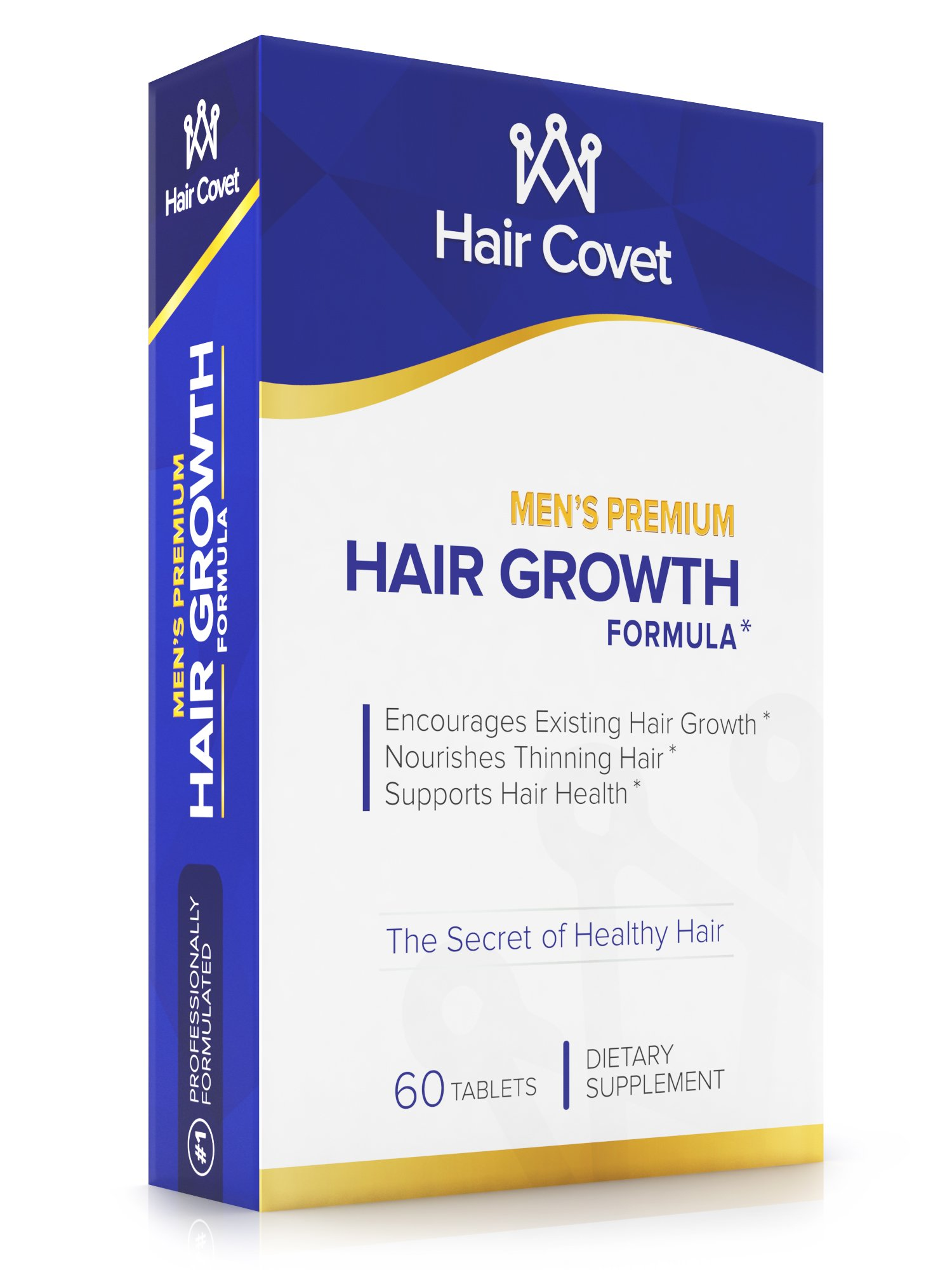 Men's Hair Growth Vitamins with Biotin (5000 mcg)   Fortifies Follicles   Longer, Stronger, Thicker, and Healthier   Non-GMO, Gluten & Cruelty Free   120 Small Tablets