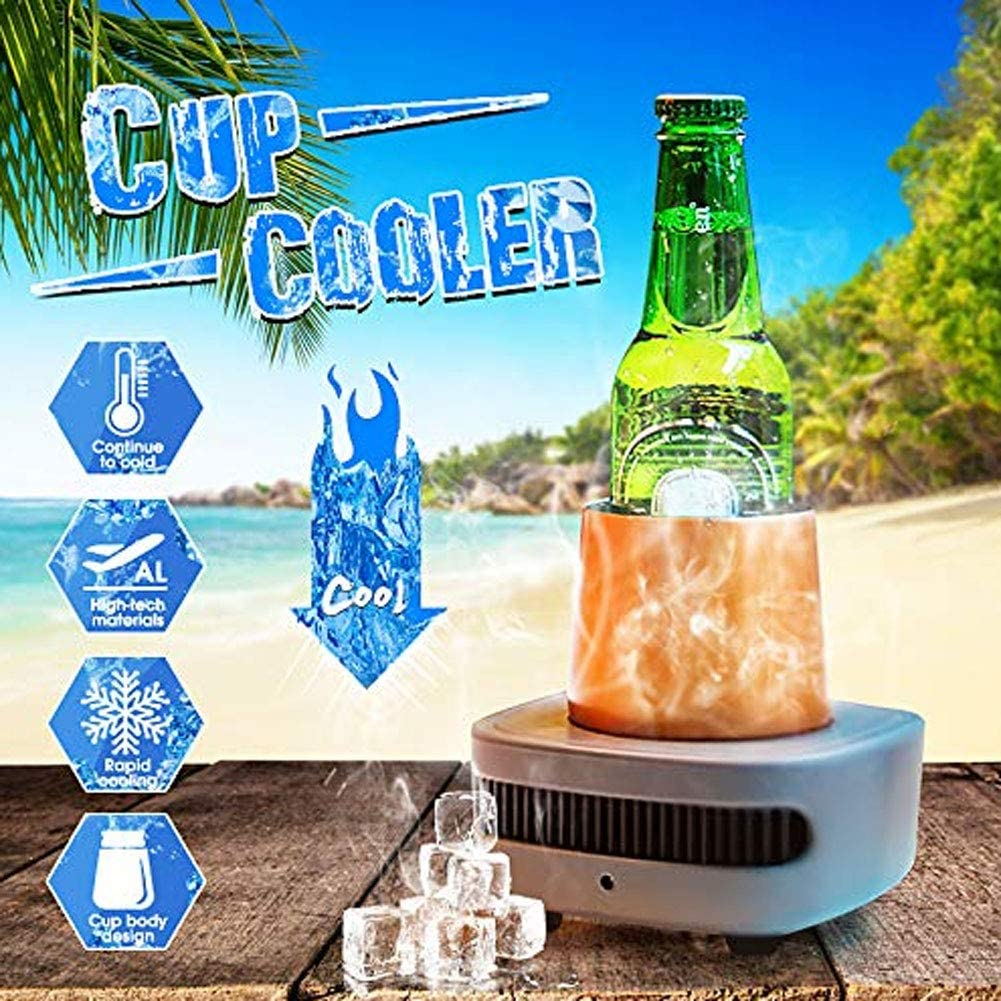 YYD Cupcooler rapid cold drink machine fast cooling cup desktop USB mini refrigerator,Gold