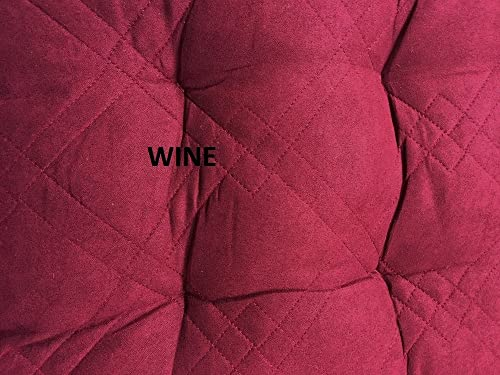 OctoRose Soft Micro Suede Bench Cushion Covers, Patio Long Chair Pads 17×40, Wine