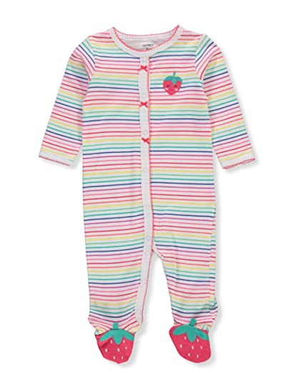 fa2464f05 Amazon.com  Carter s Baby Girls  Cotton Sleep and Play  Clothing
