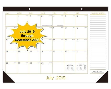 Calendrier Mensuel 2019 2020.Calendrier Mensuel 2019 2020 Amazon Fr Fournitures De Bureau