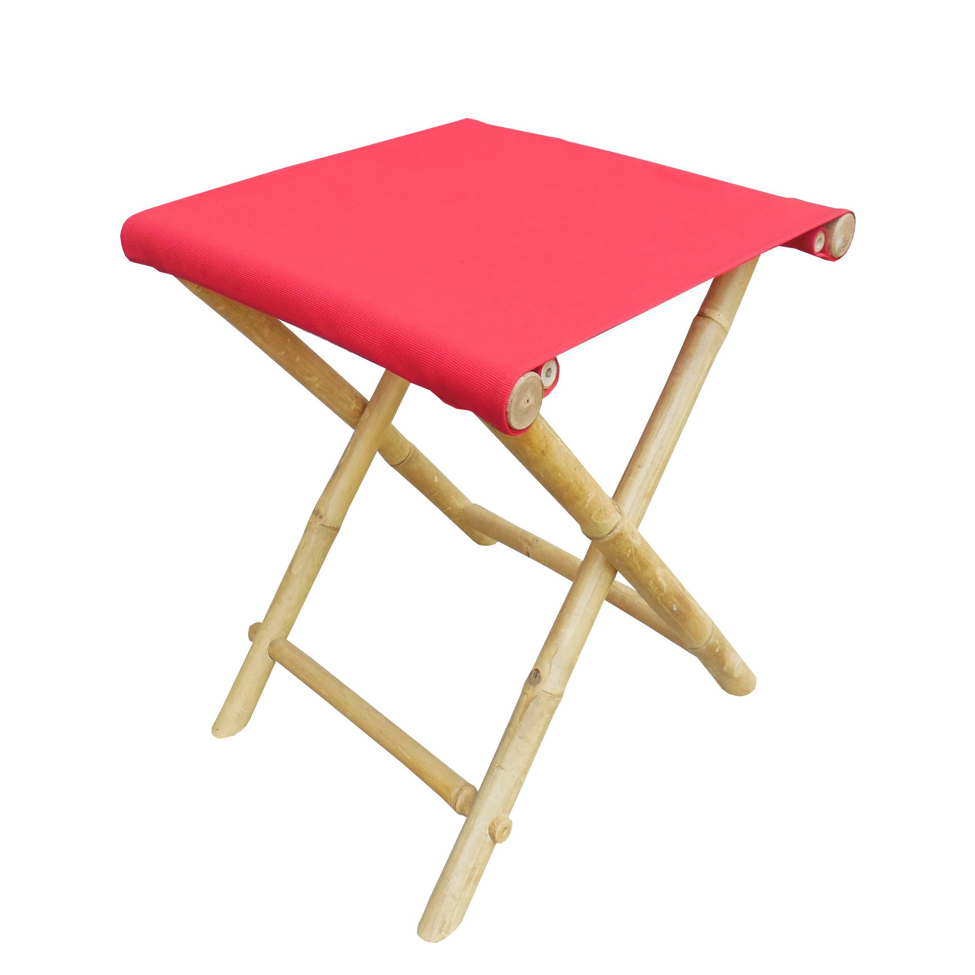 Zew CH-191-0-08 Foldable Stool, Red