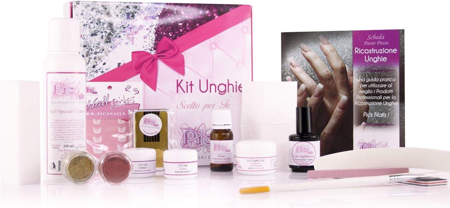Kit para reconstrucción de uñas de gel, kit completo para uñas, gel constructor, papel de reconstrucción, Nail Cleaner, gel de colores.