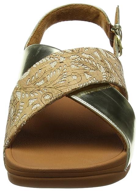 86ab7a574b9e Fitflop Women Lulu Cross Back-Strap Cork Open Toe Sandals  Amazon.co.uk   Shoes   Bags