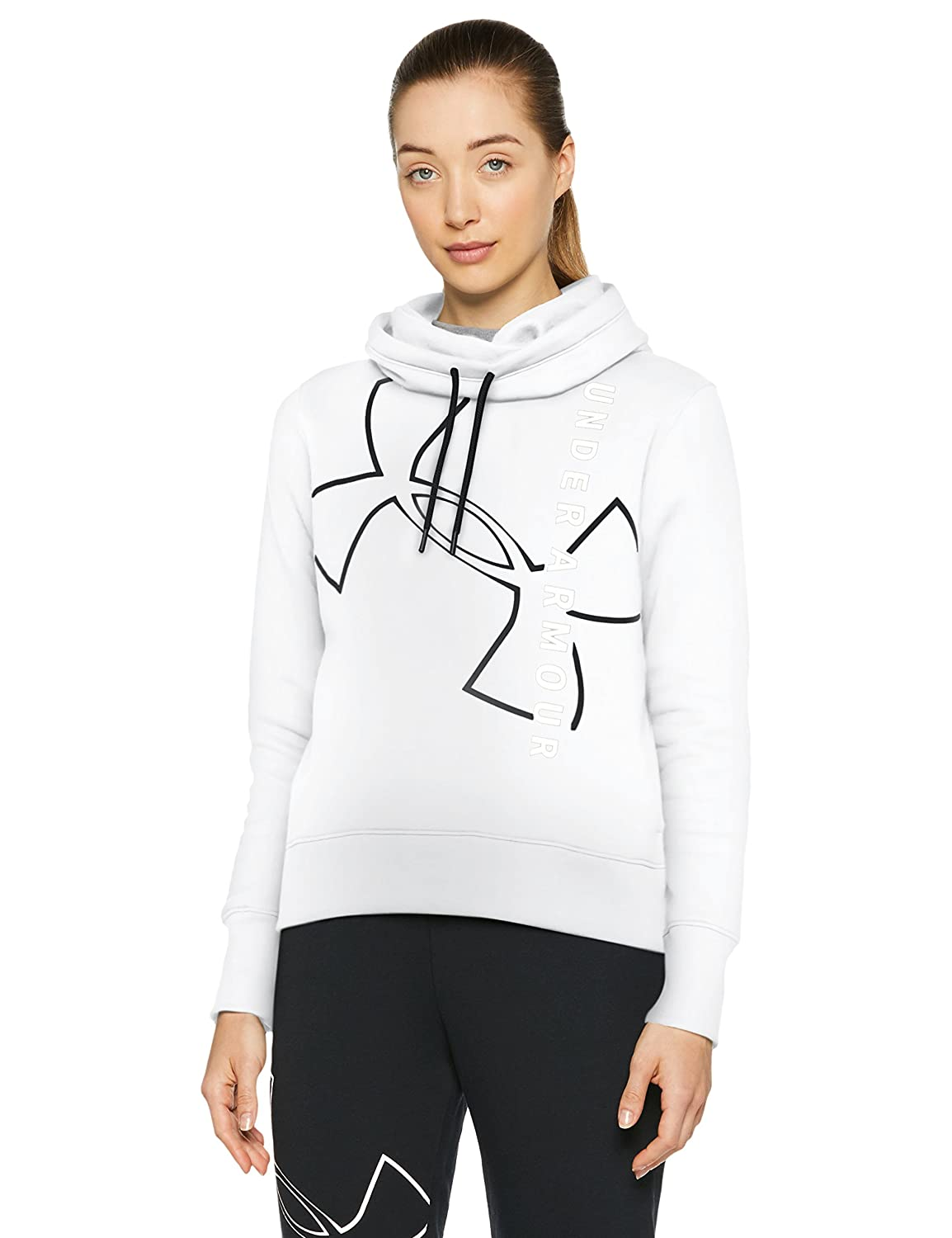TALLA M. Under Armour Big Logo WM Cotton Hoodie Sudadera, Mujer