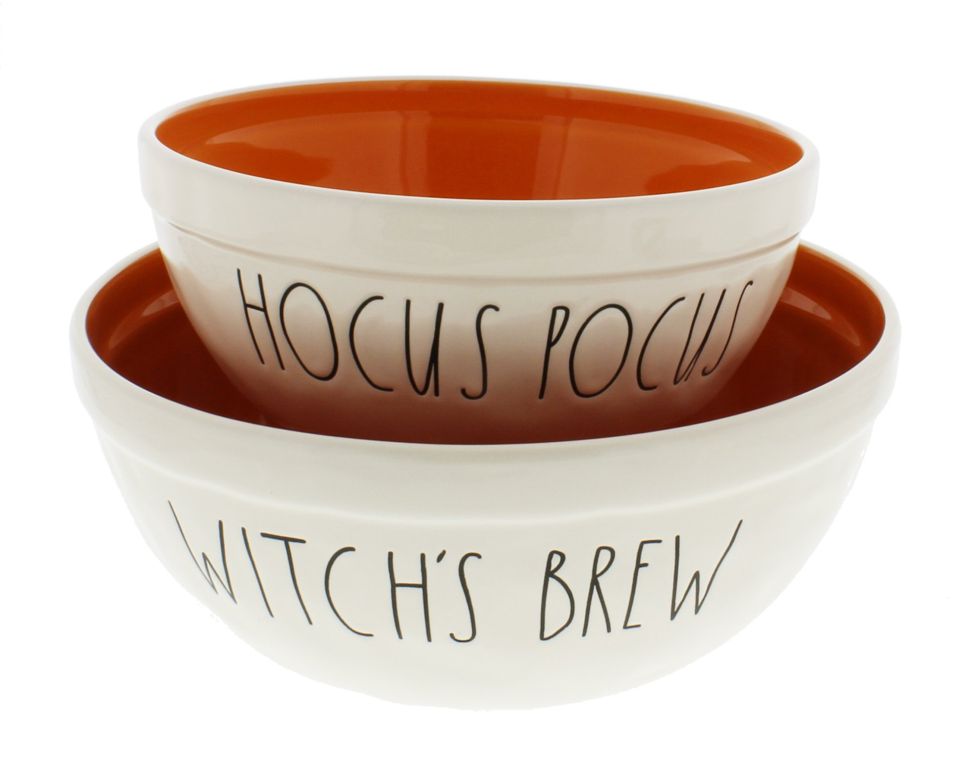 Rae Dunn by Magenta HOCUS POCUS & WITCH'S BREW Ceramic Halloween Nesting Bowls