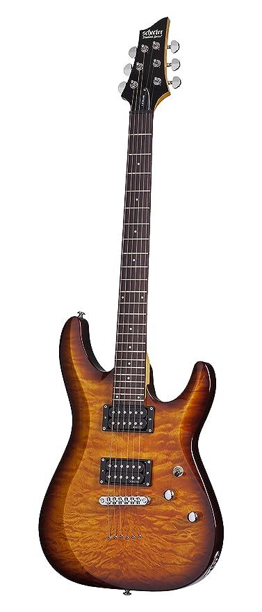 Schecter C-6 Plus diseño guitarra eléctrica, OBB: Amazon.es ...