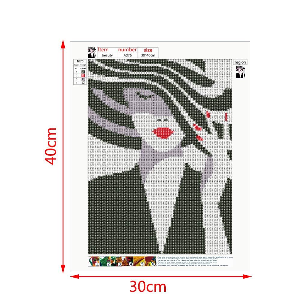 Xurgm 5D Diamond Painting Set Full Bilder Diamant Stickerei Malerei Voll Crystal Strass Kreuzstich Schoene Frau 40 30CM