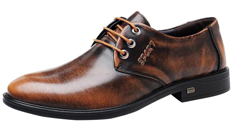 Herren-Derby-Schuhe Der Spitzenschuhe Business Casual Schuhe Jugend Mode Schuhe Braun
