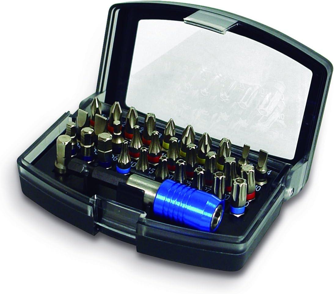 STAYER 1.1064 Set de 32 Piezas Profesional 1 Adaptador r/ápido 30 Puntas para Atornillador Vasos de 25 mm