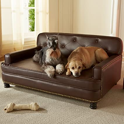 Beau Enchanted Home Pet Library Sofa, 40.5 By 30 By 18 Inch, Brown