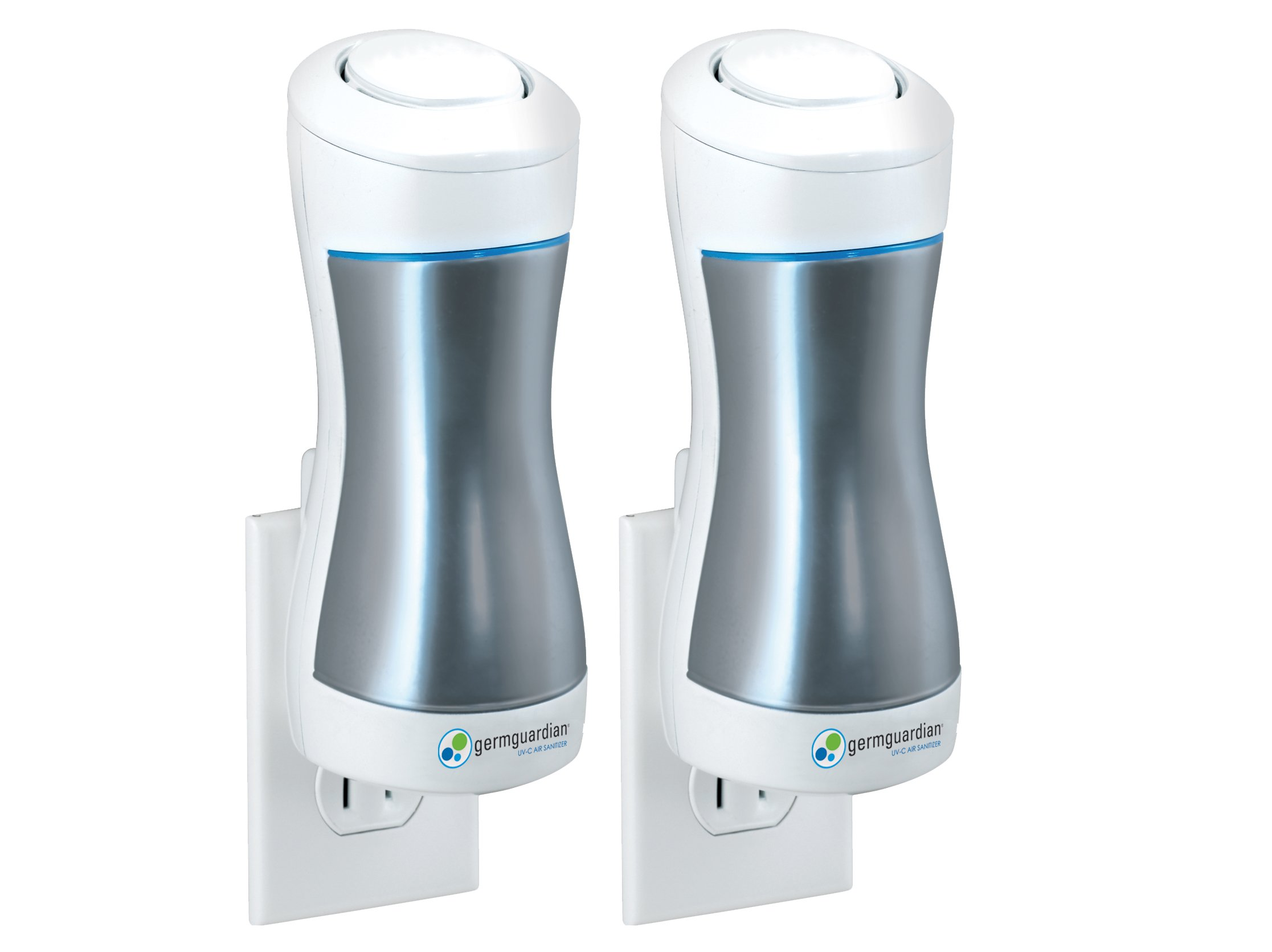Guardian Technologies GG10002PK GermGuardian GG1000 Pluggable UV-C Sanitizer and Deodorizer, Kills Germs, Freshens Air and Reduces Odors from Pets, Smoke, Mold, Cooking and Laundry, 2-PACK by Guardian Technologies