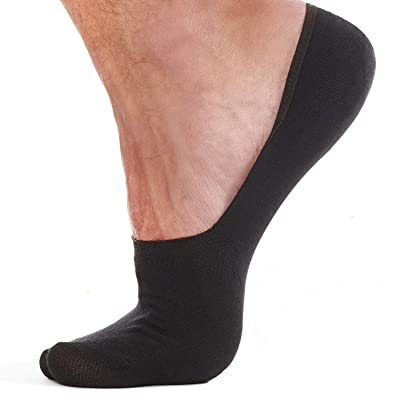 Premium no show socks men - ankle low cut sock - bamboo non-slip invisible socks at Men's Clothing store