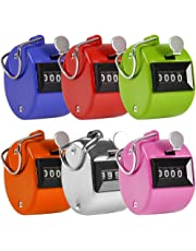 Contador Manual de 4 Digitos, AFUNTA 6 Colores Mecánico Clicker de la Palma Contador -Colores variados Handheld Tally Counter, ideal para Contar/ Golf / Eventos / Deporte / Entrenador / Escuela