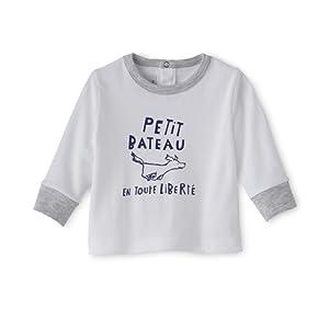 Petit Bateau Booky - Sweat-shirt - Imprimé - Col ras du cou - Manches longues - Bébé garçon