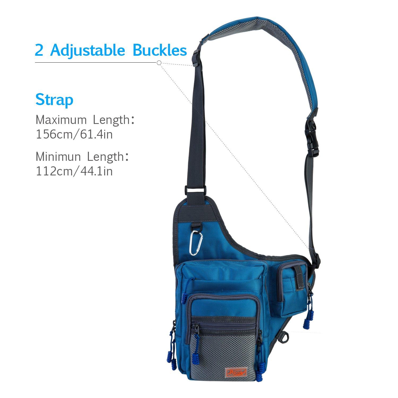 Piscifun fishing tackle bag fishing backpack soft sports for Fishing backpack amazon