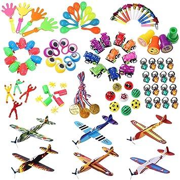 Amazon.com: iBaseToy - Juego de 100 piezas de juguetes para ...