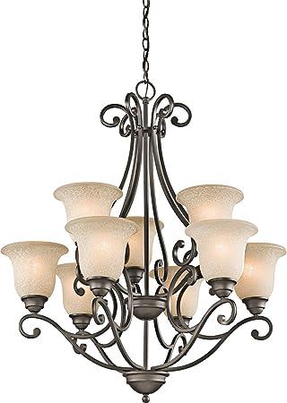 Kichler 43226OZ Camerena Large Chandelier Lighting, Olde Bronze 9-Light (30
