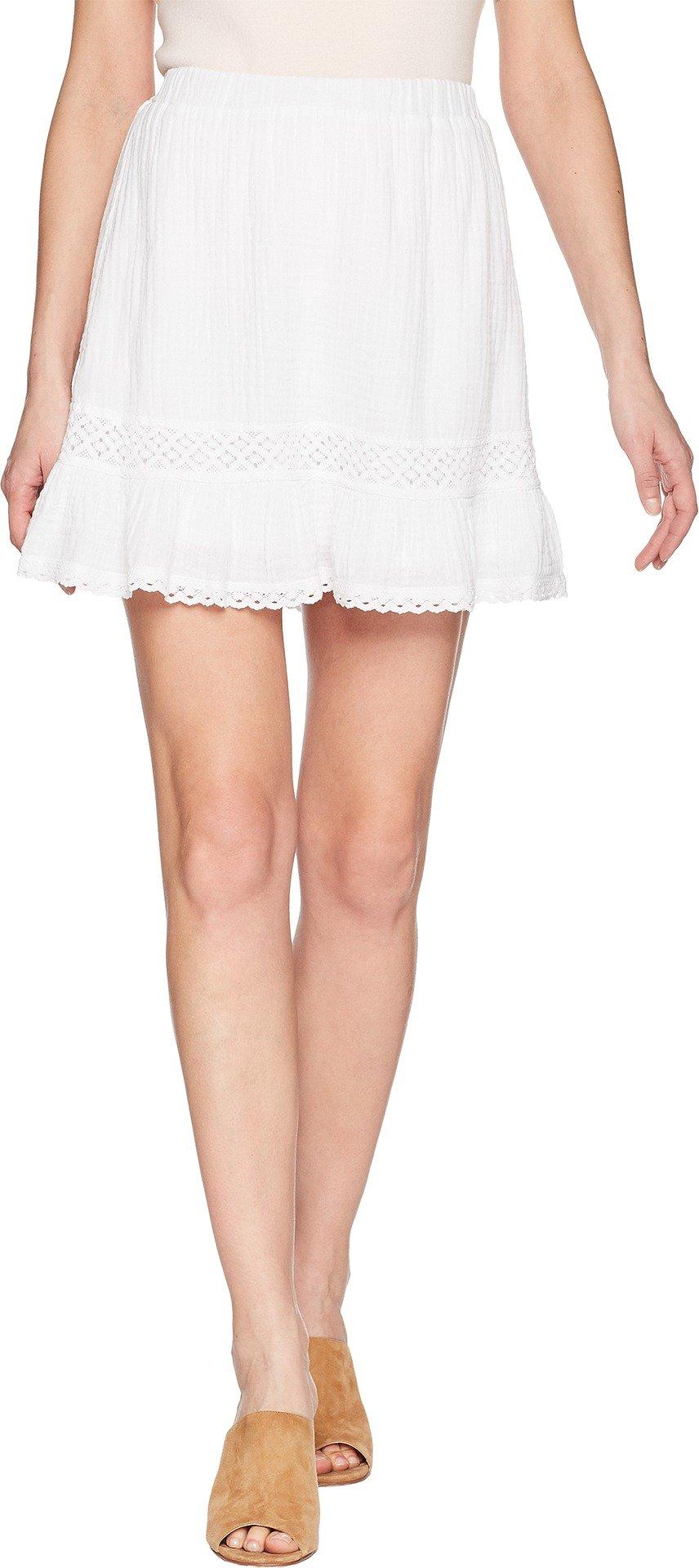 Michael Stars Women's Double Gauze Peasant Skirt White Small