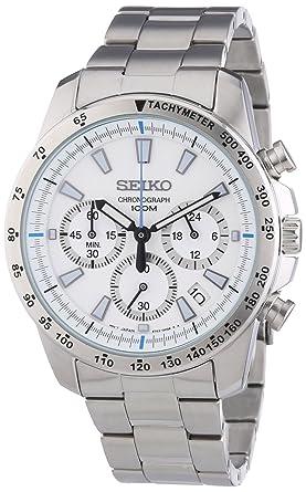 Seiko Reloj Analógico de Cuarzo para Hombre con Correa de Acero Inoxidable - SSB025P1: Amazon.es: Relojes