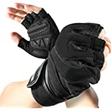 isnowood Weight Lifting Gloves with Wrist Wraps Support - Full Palm Protection & Extra Grip - Gym gloves for Workout Exercise, Fitness, Powerlifting, Cross Training