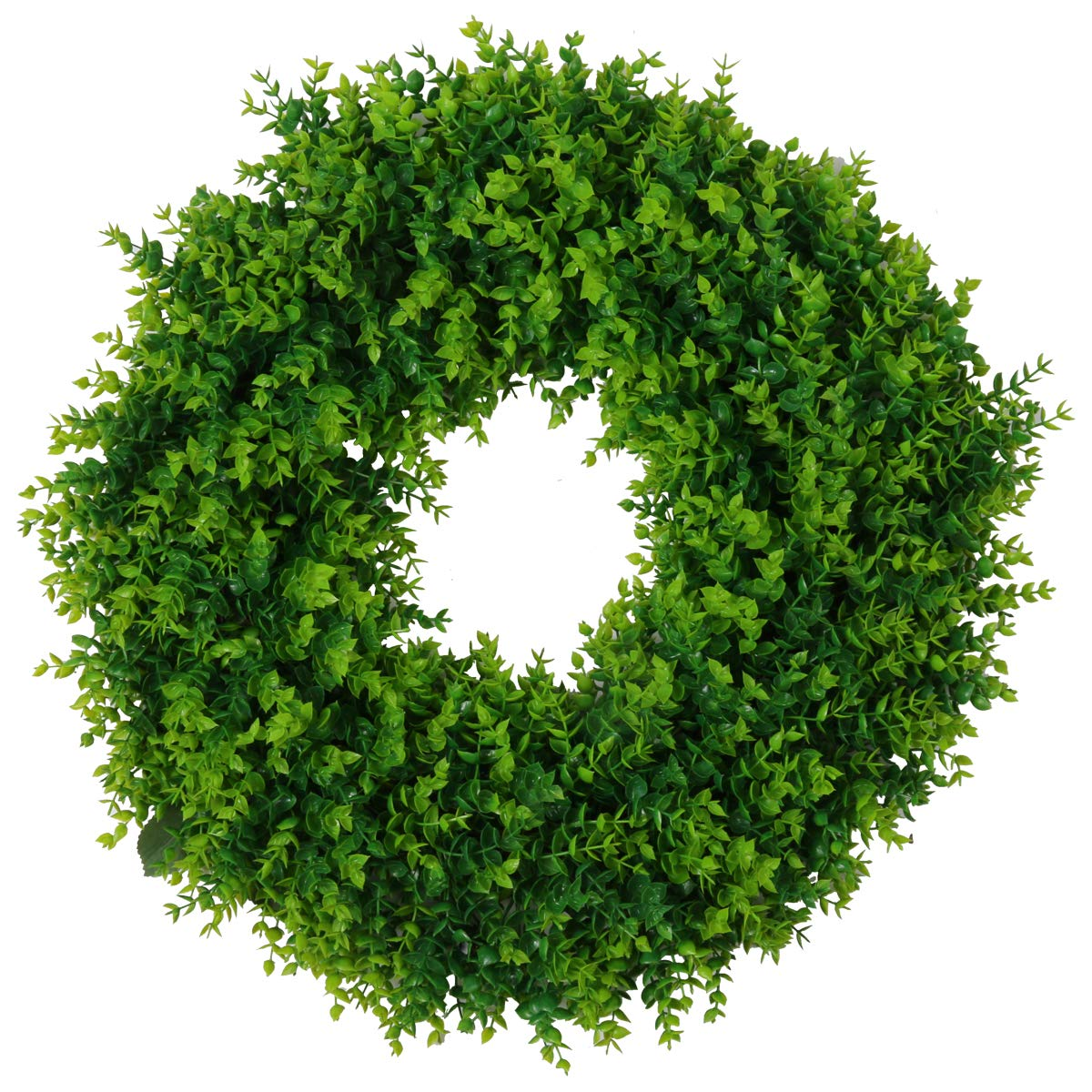 U'Artlines 20'' Artificial Greenery Wreath Plants Spring Summer Backdrops Ornaments Garland Front Door Wreaths Display for Home/Wall/Christmas/Party/Festival Decor (20'', Pattern 1) by U'Artlines